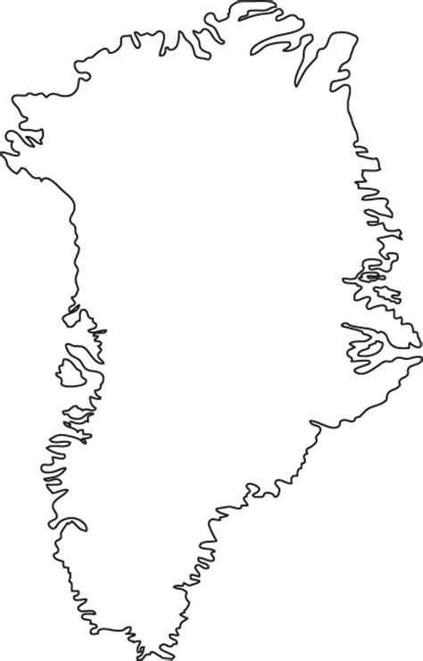 greenland map coloring page outline map of greenland outline map