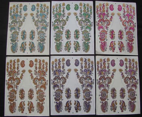 henna tattoo hand sticker henna stickers wholesale export stickers
