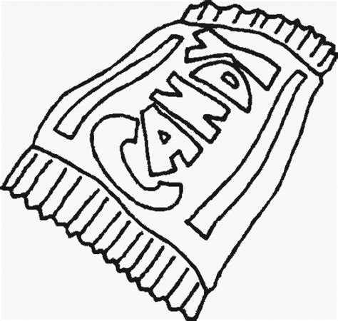 food candybar coloring pages