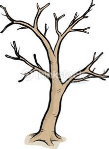 A Drawing Of A Tree With Bare Branches Vector Art Thinkstock