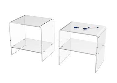 table de nuit plexiglas table de chevet transparente table de nuit design et