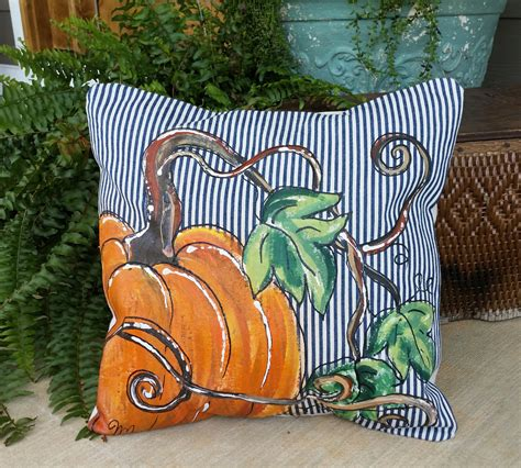 New Pillow Cover Fall Pumpkins Limited by SippingIcedTea