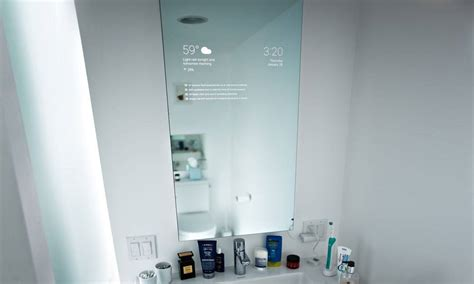 the bathroom smart mirror designed by a engineer