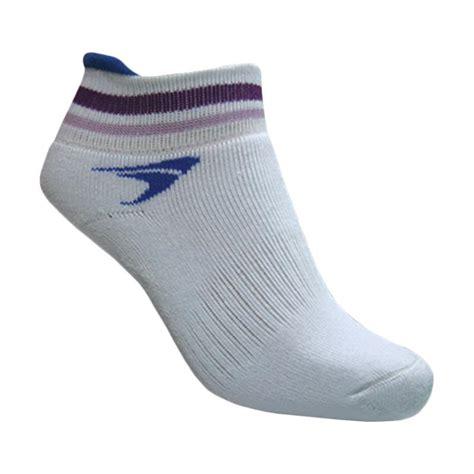 Kaos Kaki Bulutangkis jual flypower tomcat kaos kaki badminton wanita white blue harga kualitas terjamin