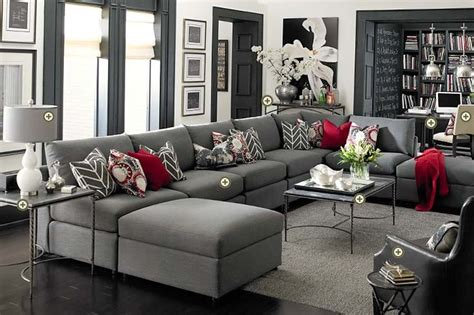 red and gray living room rooms we love bassett furniture on pinterest discover