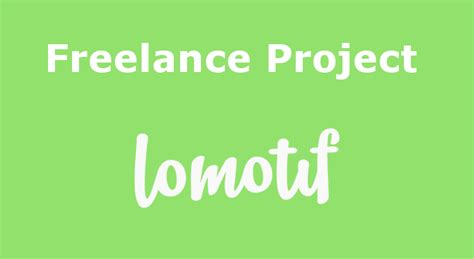 Free Lance Projects For Mba by Freelance Project Lomotif