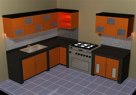 3d model kitchen set small kitchen set 3d model