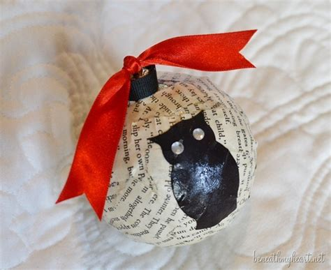 diy owl ornaments owl themed gift wrapping and diy ornament beneath my