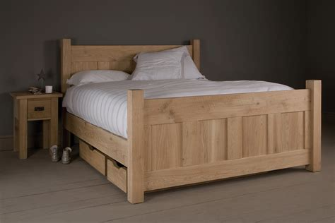 Oak Bed by The Georgian Panel Oak Bed By Indigo Furniture
