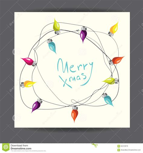 merry christmas vector illustrated greetingcard with