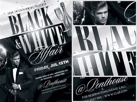 Black And White Flyer Templates