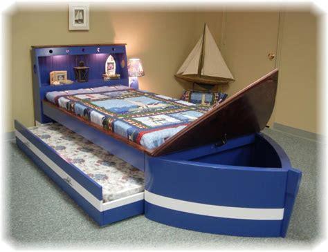 boat bed with trundle boat bed with trundle and toy box storage children s