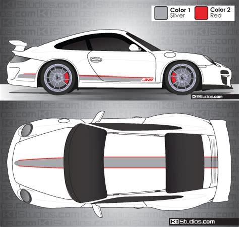 Porsche 997 Gt3 Aufkleber by Ki Studios Stripe Kit For Porsche Gt3 Rs 4 0 Rs 4 0