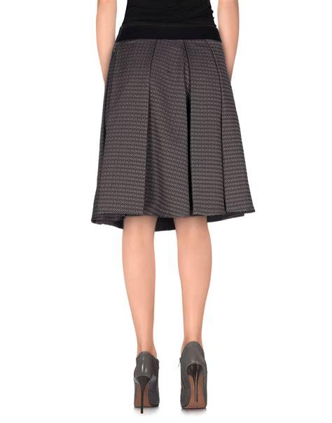 pt01 knee length skirt in gray lyst