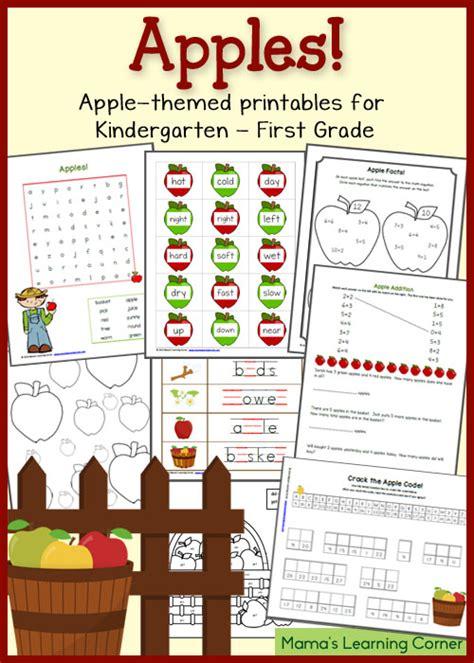 Apple Worksheets Grade by Apple Printables For Kindergarten Grade Mamas