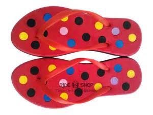Jepit Cewek Komin Warna Warni jual sandal jepit merah hitam polkadot warna warni sendal wanita murah bide shop