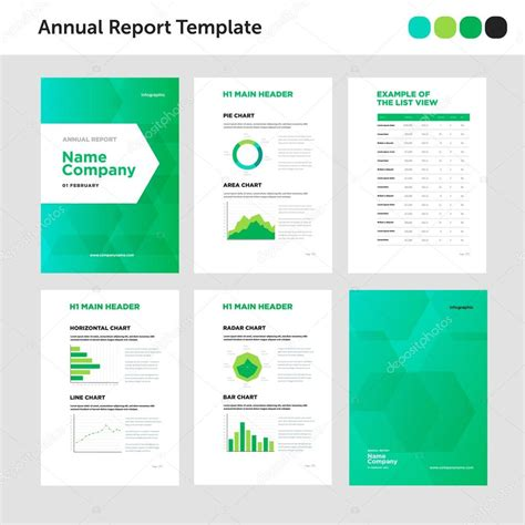 Asnc Reporting Template Modern Annual Report Template With Cover Design And