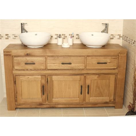 rustic bathroom vanity units milan large rustic double oak bathroom vanity unit click oak