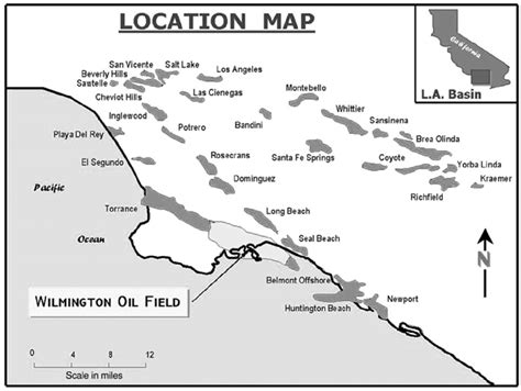 map of los angeles basin carbonacea los angeles basin most prolific and most