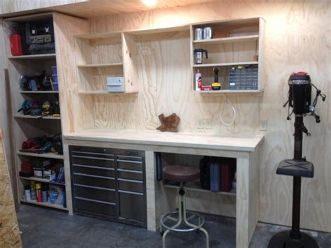 garage shop designs garage corner workbench google search banc de lucru