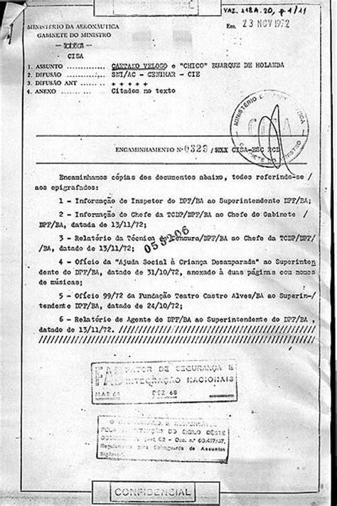 Documentos da ditadura sobre Chico Buarque - 15/04/2019