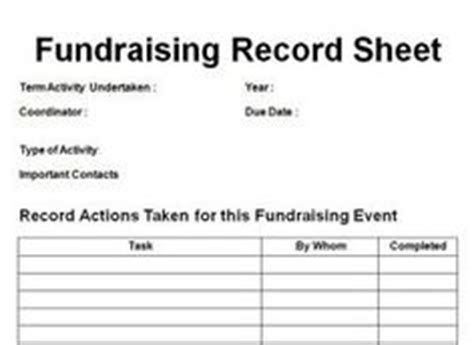 1000 Images About Fundraising On Pinterest Basket Raffle Raffle Baskets And Fundraisers Fundraising Record Keeping Template