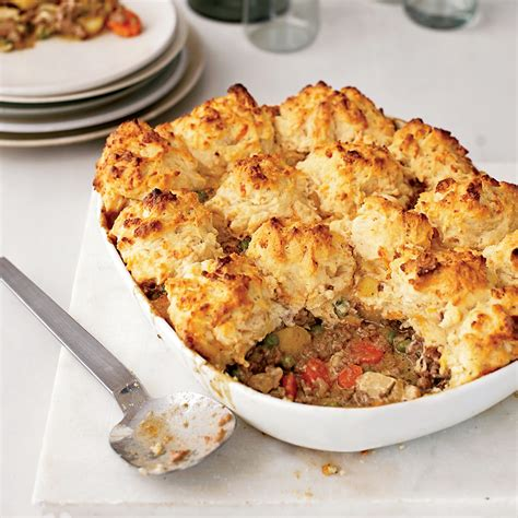 comfort cooking beef and vegetable potpie with cheddar biscuits recipe