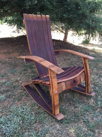 Wine Barrel Chair Plans by Wine Barrel Adirondack Rocking Chair