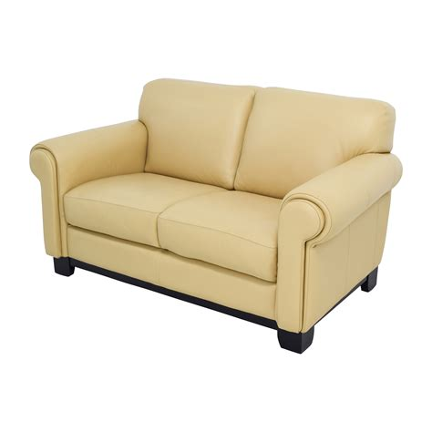 beige leather and loveseat 78 chateau d ax chateau d ax beige leather two seat