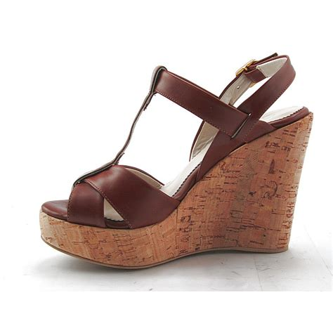comfortable wedges sandals small or large comfortable sandal with cork wedge in tan