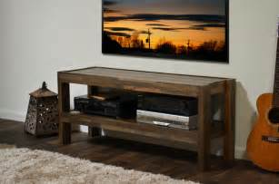Reclaimed pallet barn wood style tv stand presearth spice rustic