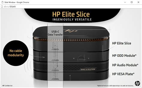 Hp Elite Slice hp elite slice modular mini pc can be powered by a monitor