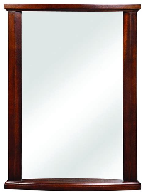 mahogany bathroom mirror decolav 9715 mmg olivia wall mirror in mahogany traditional bathroom mirrors by