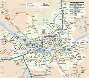 Subway map english seoul