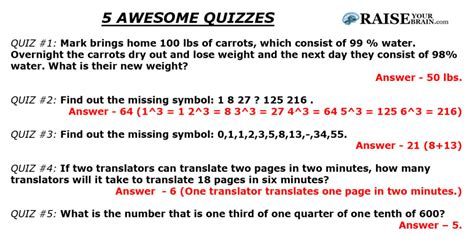 quiz questions no answers 5 interesting free quizzes the answers raise your brain