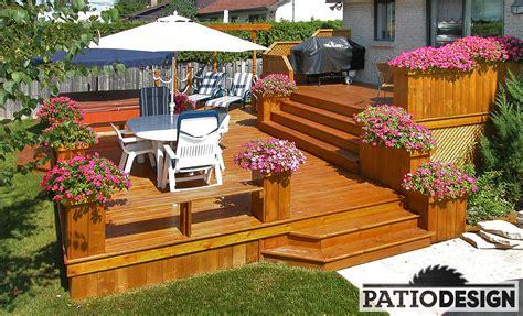 un patio conception fabrication et installation de patio autour d