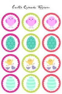 cupcake toppers easter cupcake toppers free printables
