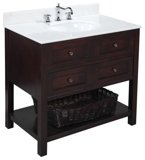 new yorker 36 in bath vanity white chocolate