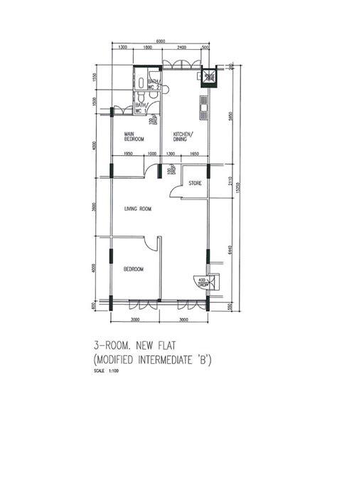 3 Room Floor Plan by Butterpaperstudio Reno Clementi2 A 3 Room Hdb Floor Plan