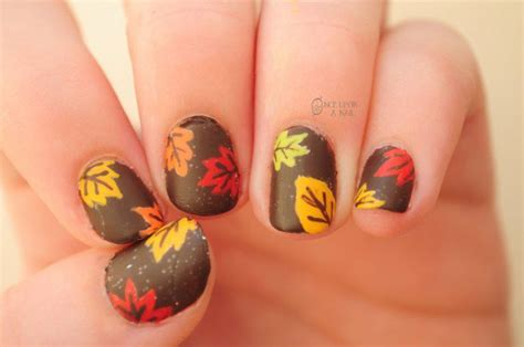 leaf pattern nails 20 fantastic nail designs for thanksgiving styles weekly