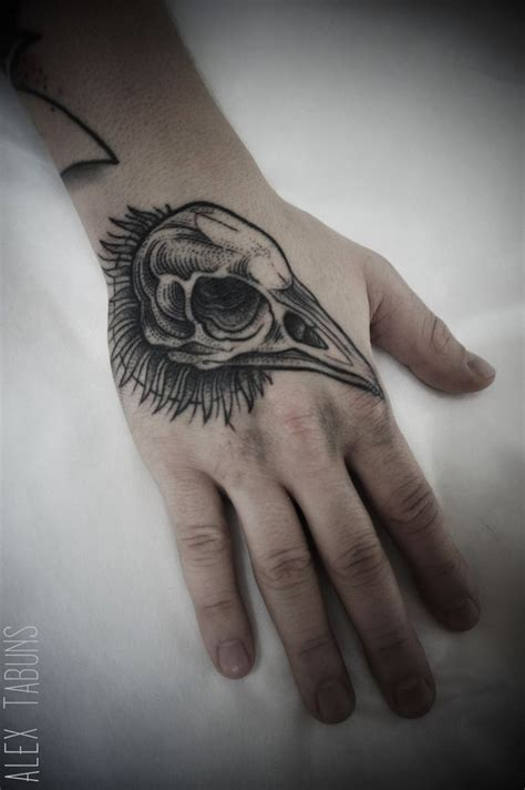 birdman head tattoo best 25 bird skull ideas on
