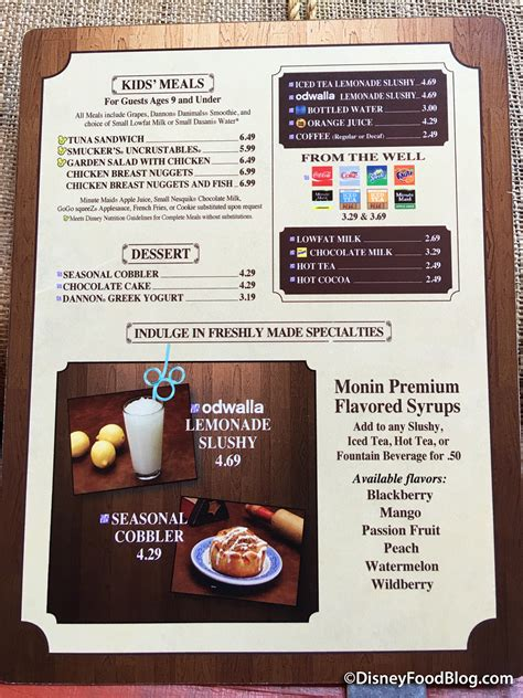 columbia harbor house menu review flavor boosted beverages at magic kingdom s columbia harbour house the