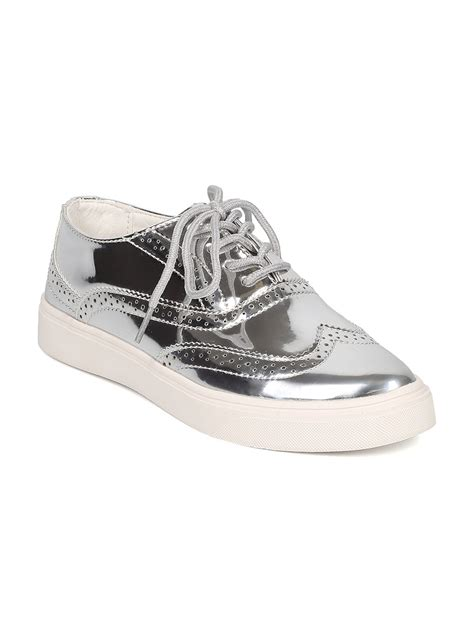 pointy sneakers shoes cape robbin gh34 metallic leatherette pointy