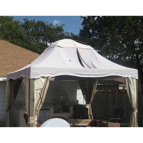 pacific casual dome top square gazebo garden winds