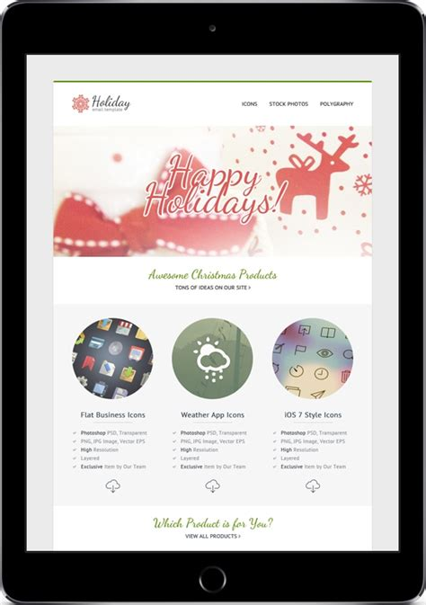Happy Holidays Email Templates by Email Templates For The Upcoming Mailing