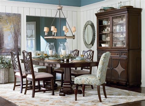 bassett dining room moultrie park double pedestal dining table by bassett