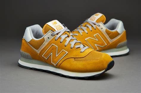 Sepatu New Balance Tipe 574 sepatu sneakers new balance ml574 suede mesh yellow