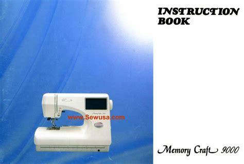 new home model 9000 mc sewing machine manual