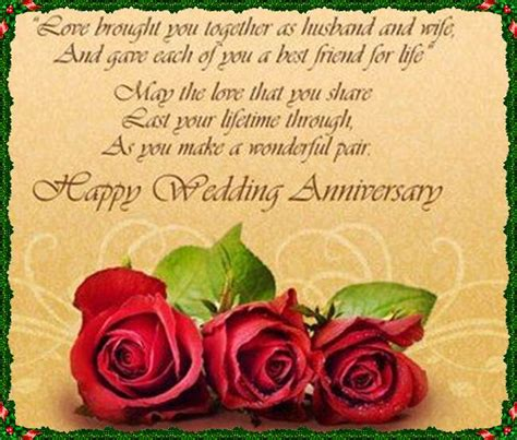 Wedding Anniversary Wishes For by Happy Wedding Anniversary Wishes Greetings Images