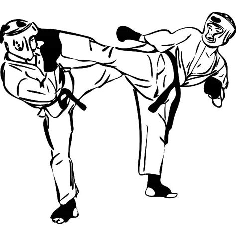karate boy coloring page karate fighters drawings clipart best
